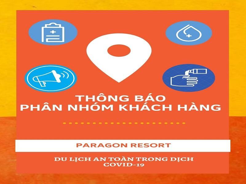Thông báo phân nhóm khách hàng tại Paragon Resort trong giai đoạn tháng 9 - 2020